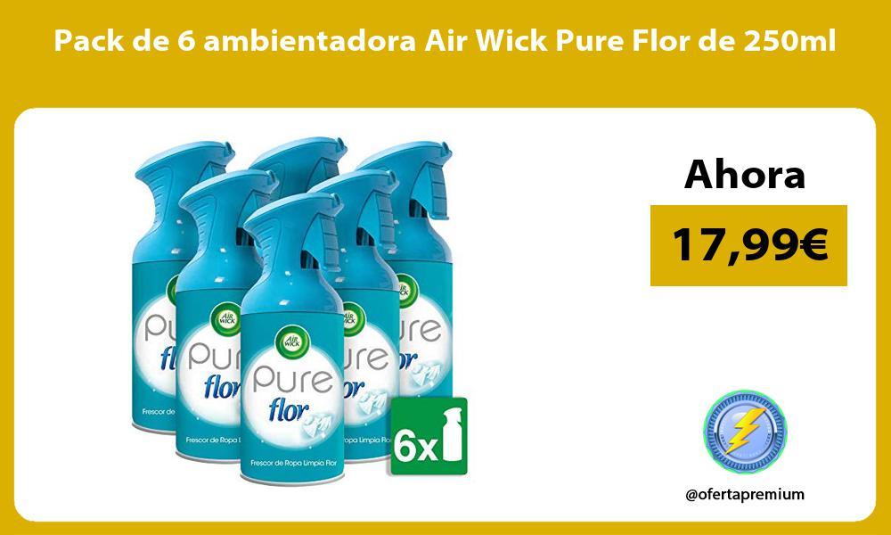 Pack de 6 ambientadora Air Wick Pure Flor de 250ml