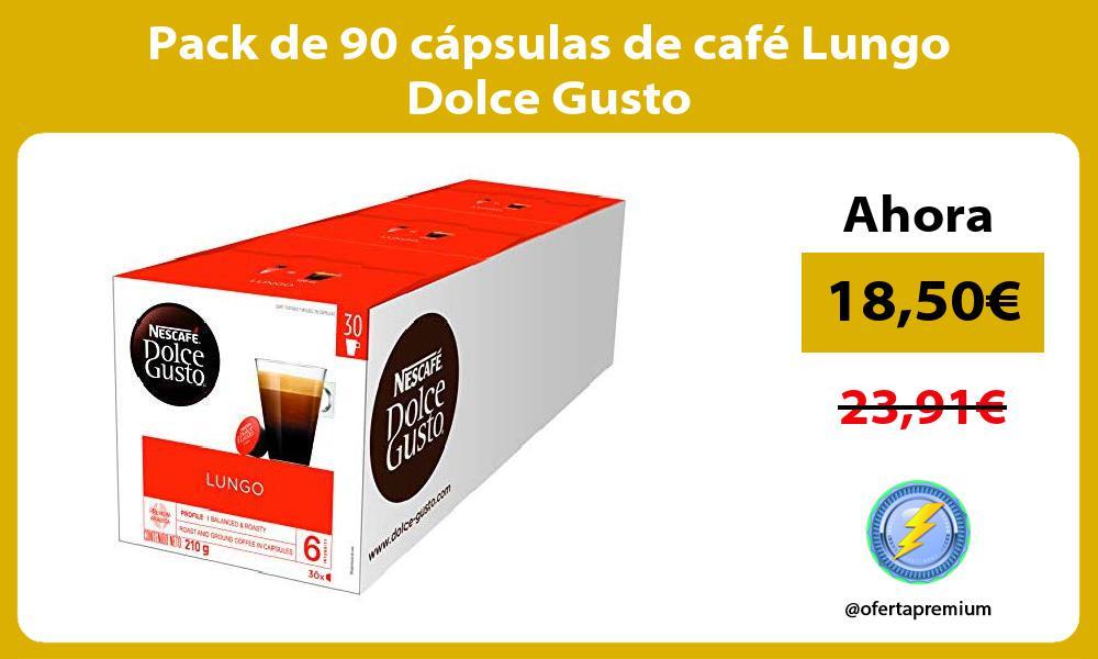 Pack de 90 cápsulas de café Lungo Dolce Gusto