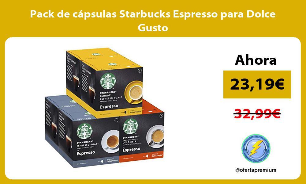 Pack de cápsulas Starbucks Espresso para Dolce Gusto