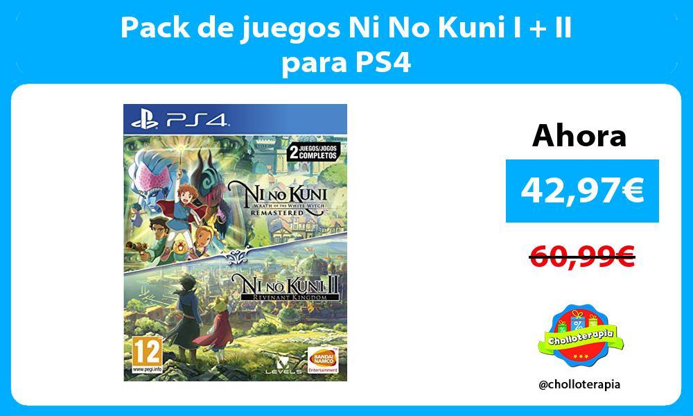 Pack de juegos Ni No Kuni I II para PS4