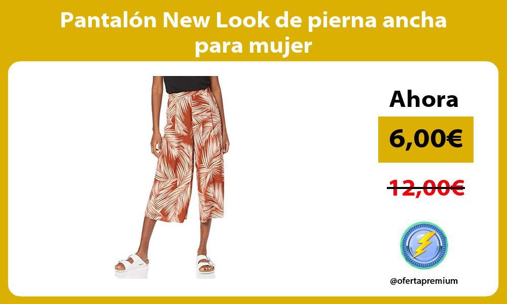 Pantalón New Look de pierna ancha para mujer