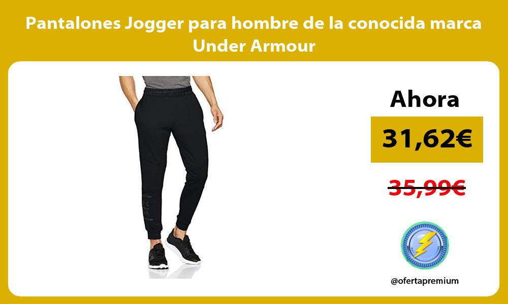 Pantalones Jogger para hombre de la conocida marca Under Armour