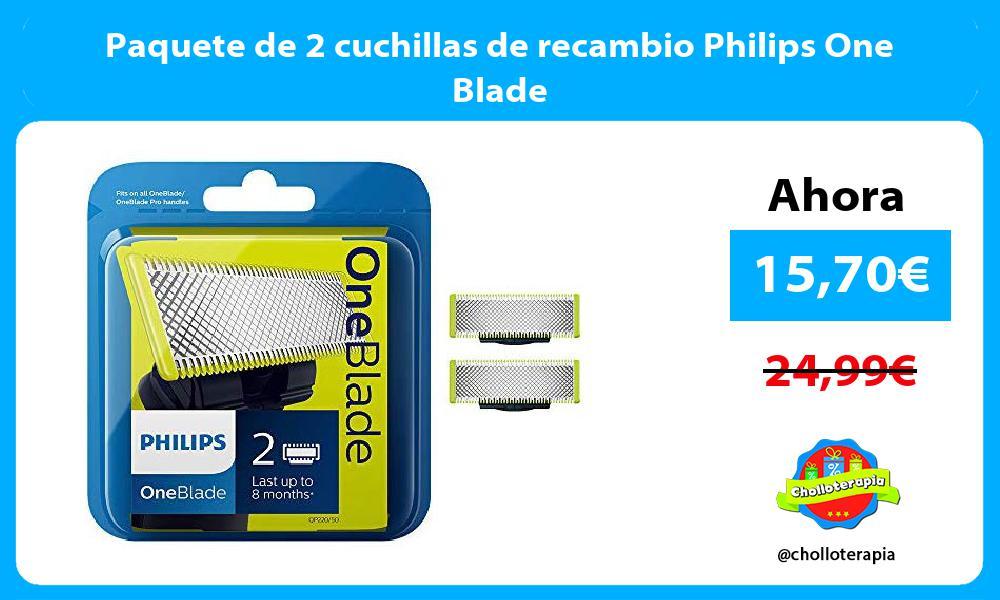 Paquete de 2 cuchillas de recambio Philips One Blade