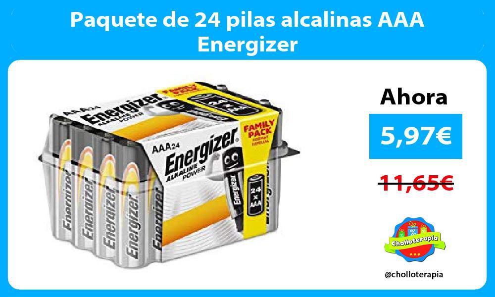 Paquete de 24 pilas alcalinas AAA Energizer