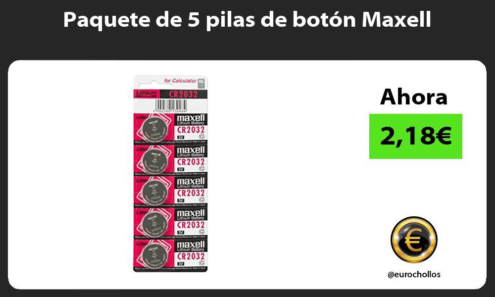 Paquete de 5 pilas de botón Maxell