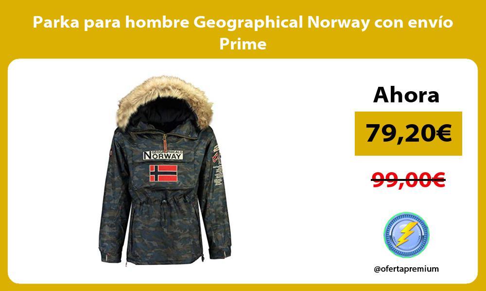 Parka para hombre Geographical Norway con envío Prime