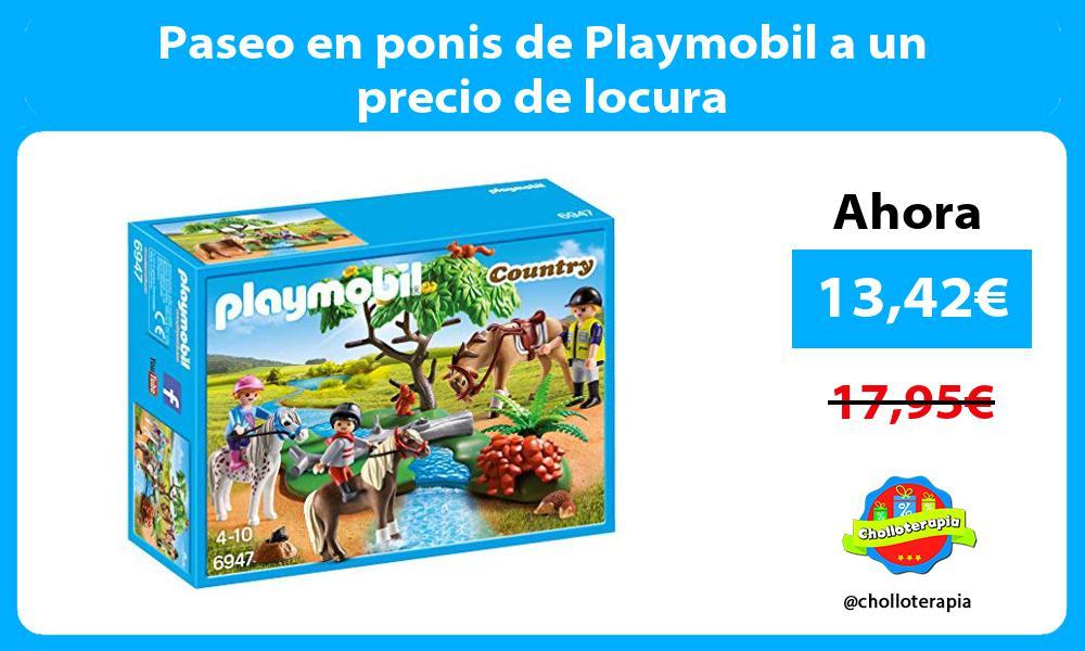 Paseo en ponis de Playmobil a un precio de locura