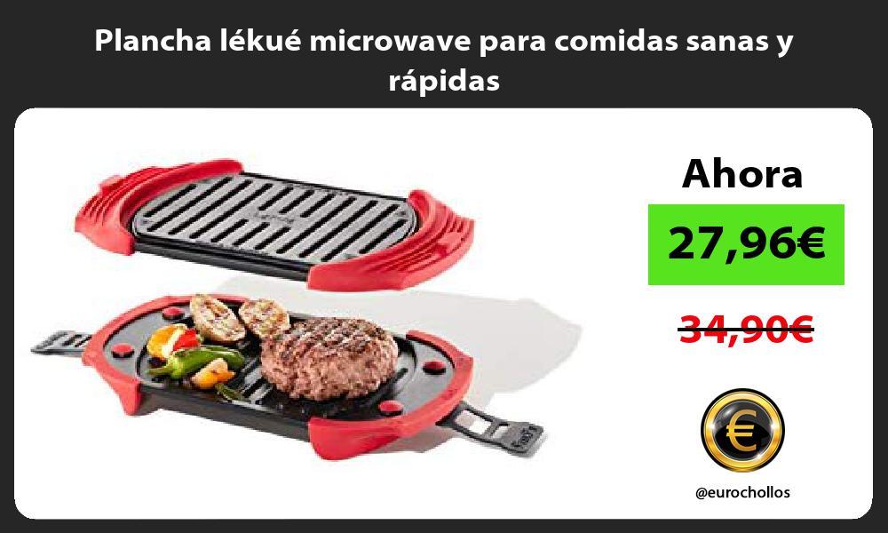Plancha lékué microwave para comidas sanas y rápidas