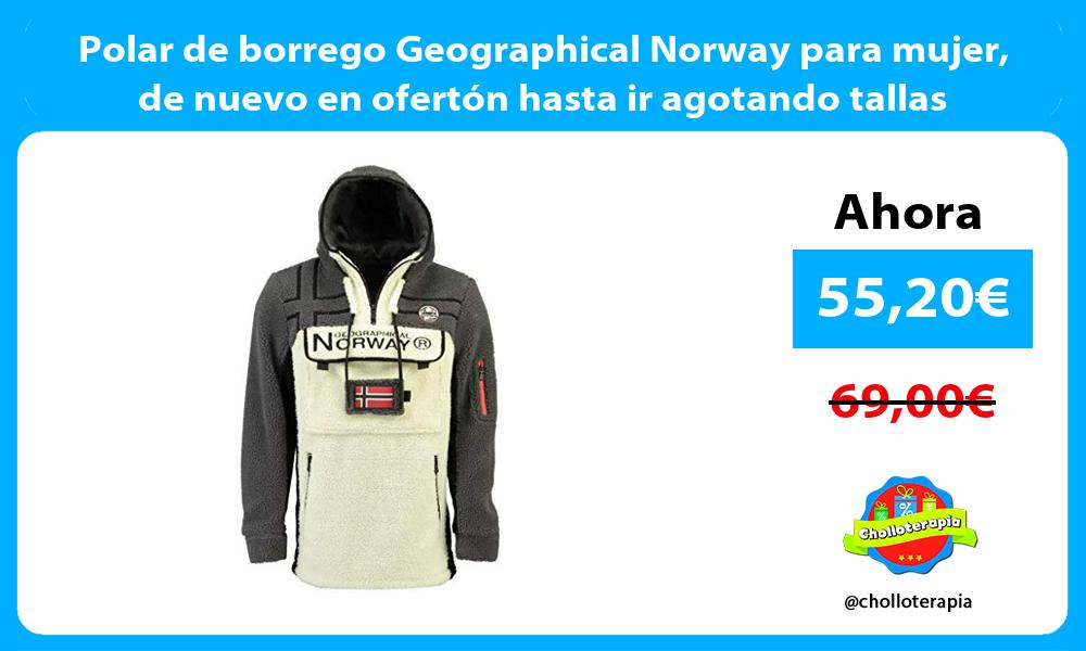 Polar de borrego Geographical Norway para mujer de nuevo en ofertón hasta ir agotando tallas
