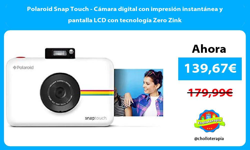 Polaroid Snap Touch Cámara digital con impresión instantánea y pantalla LCD con tecnología Zero Zink
