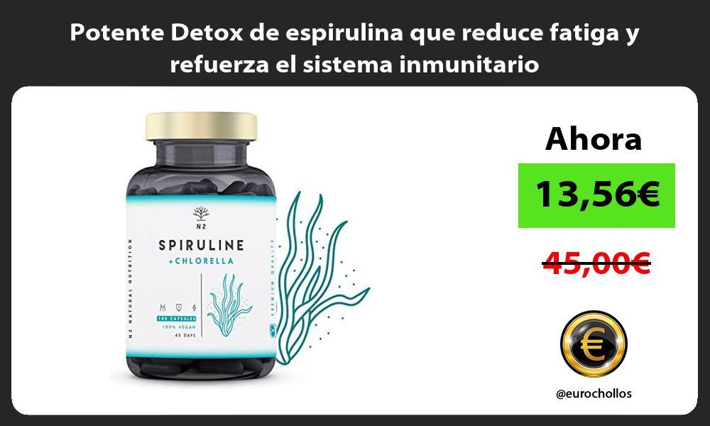 Potente Detox de espirulina que reduce fatiga y refuerza el sistema inmunitario