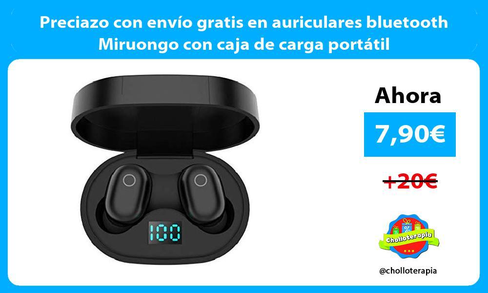 Preciazo con envío gratis en auriculares bluetooth Miruongo con caja de carga portátil