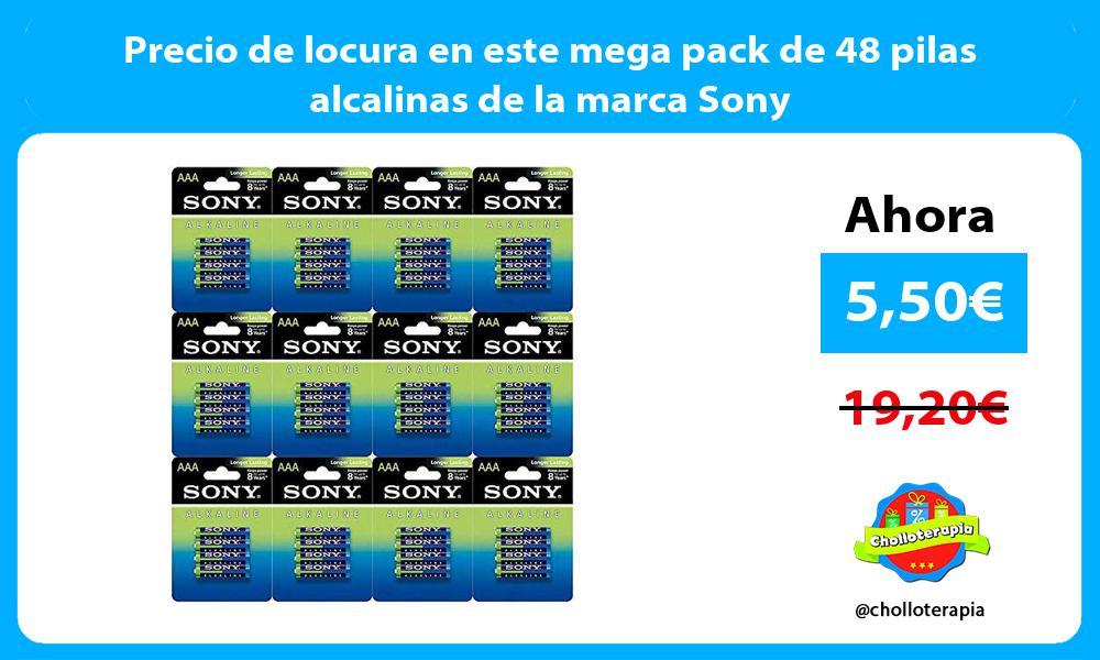 Precio de locura en este mega pack de 48 pilas alcalinas de la marca Sony