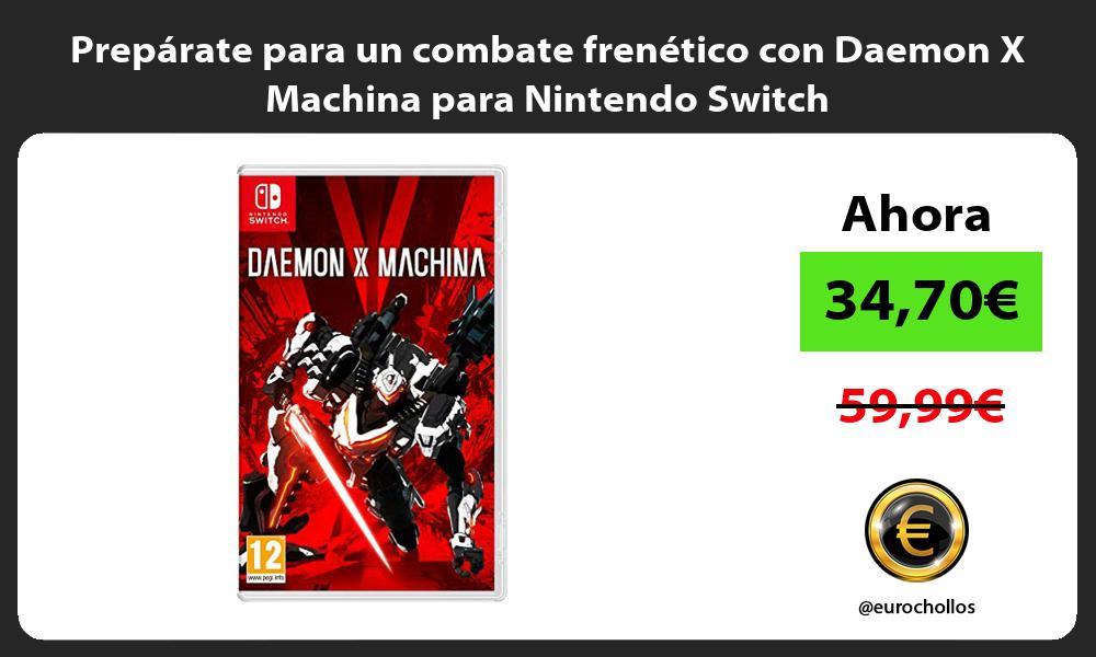 Prepárate para un combate frenético con Daemon X Machina para Nintendo Switch