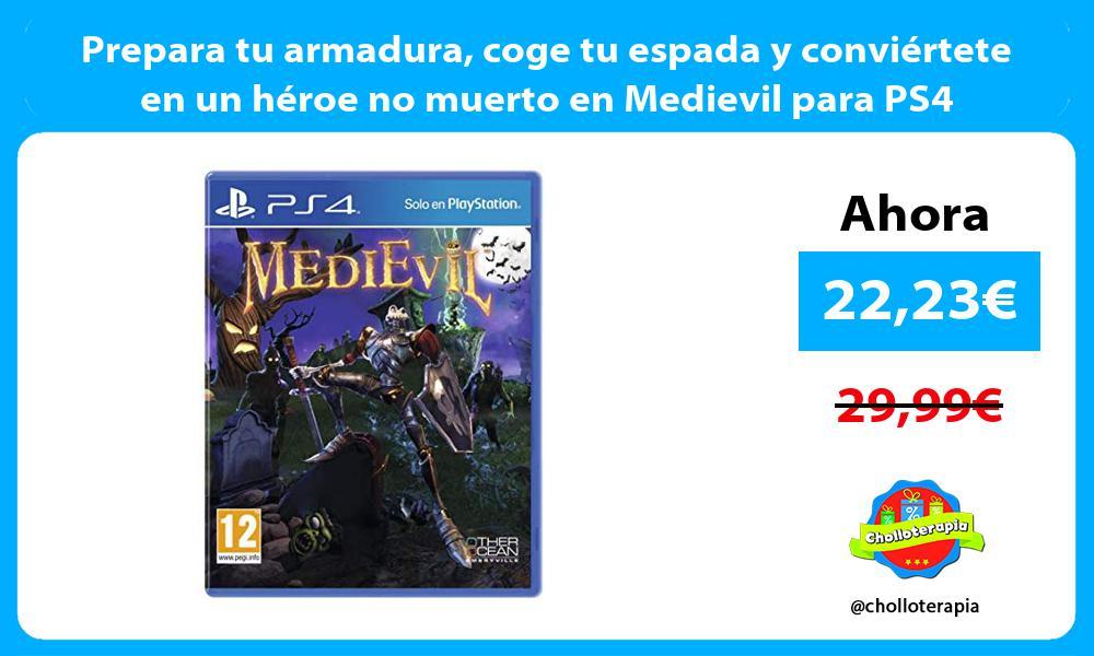 Prepara tu armadura coge tu espada y conviértete en un héroe no muerto en Medievil para PS4