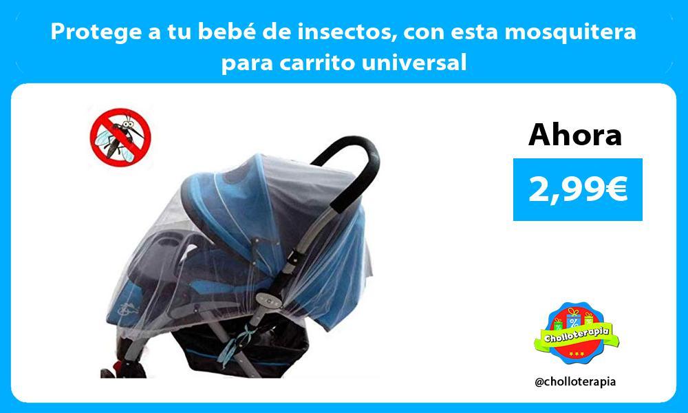 Protege a tu bebé de insectos con esta mosquitera para carrito universal