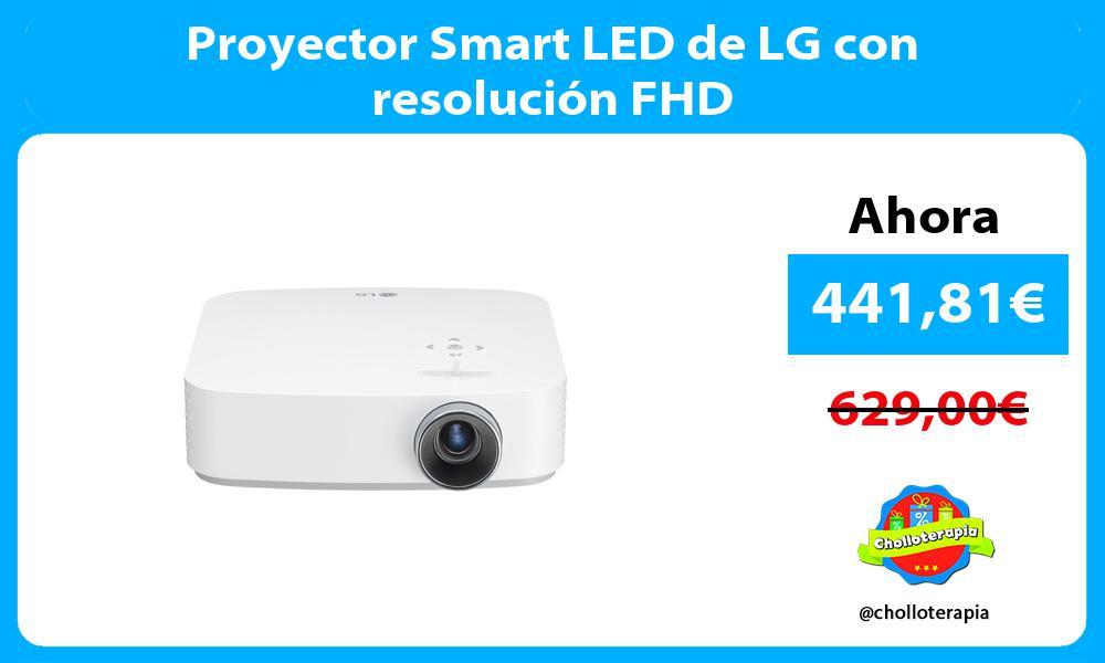 Proyector Smart LED de LG con resolución FHD