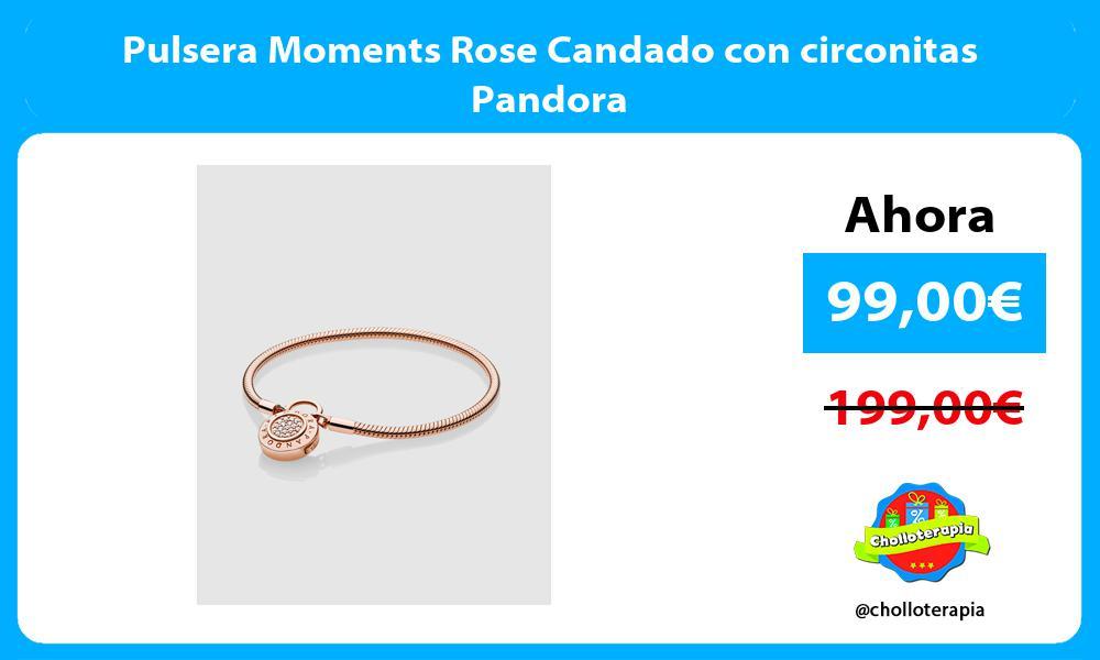 Pulsera Moments Rose Candado con circonitas Pandora