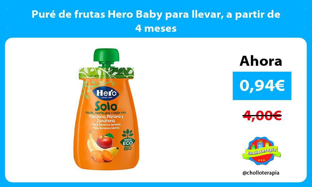 Puré de frutas Hero Baby para llevar a partir de 4 meses