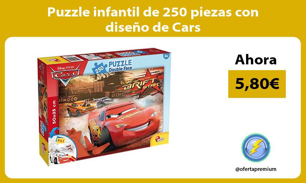 Puzzle infantil de 250 piezas con diseño de Cars