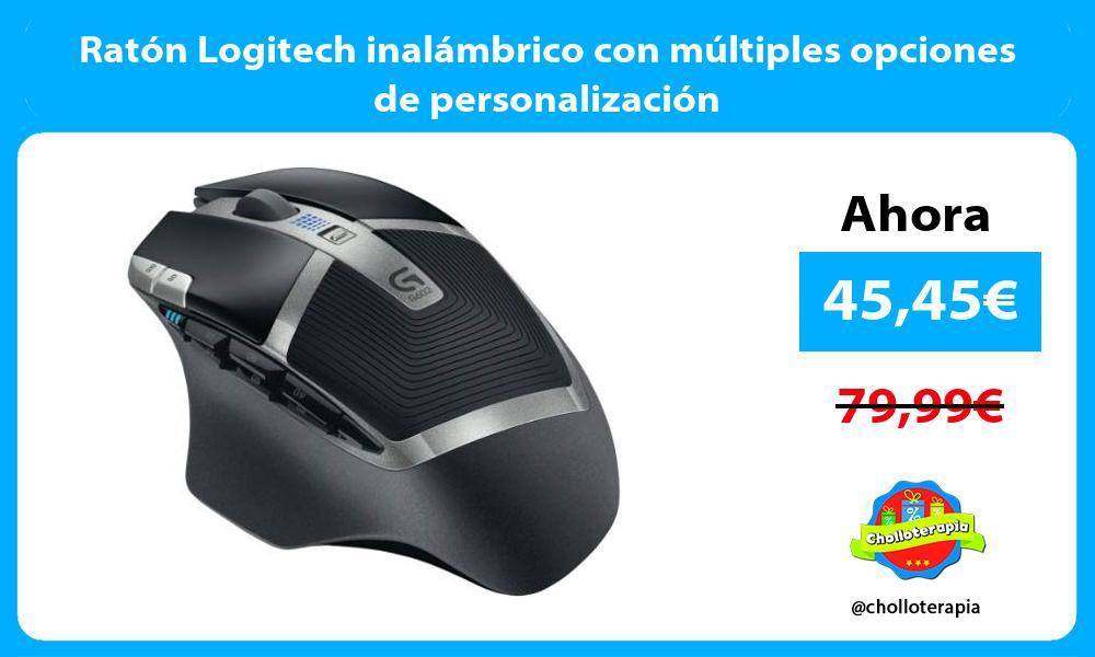 Ratón Logitech inalámbrico con múltiples opciones de personalización