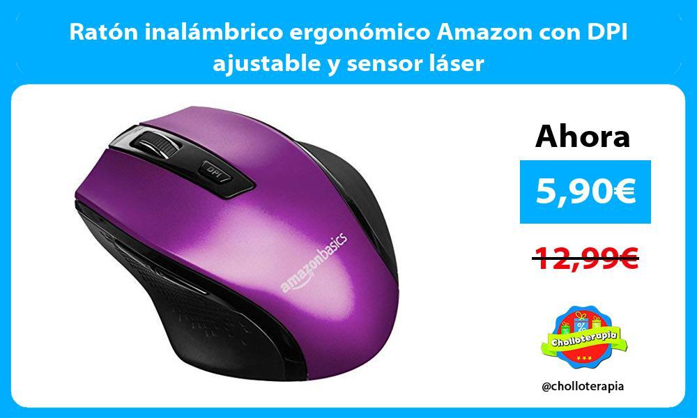 Ratón inalámbrico ergonómico Amazon con DPI ajustable y sensor láser