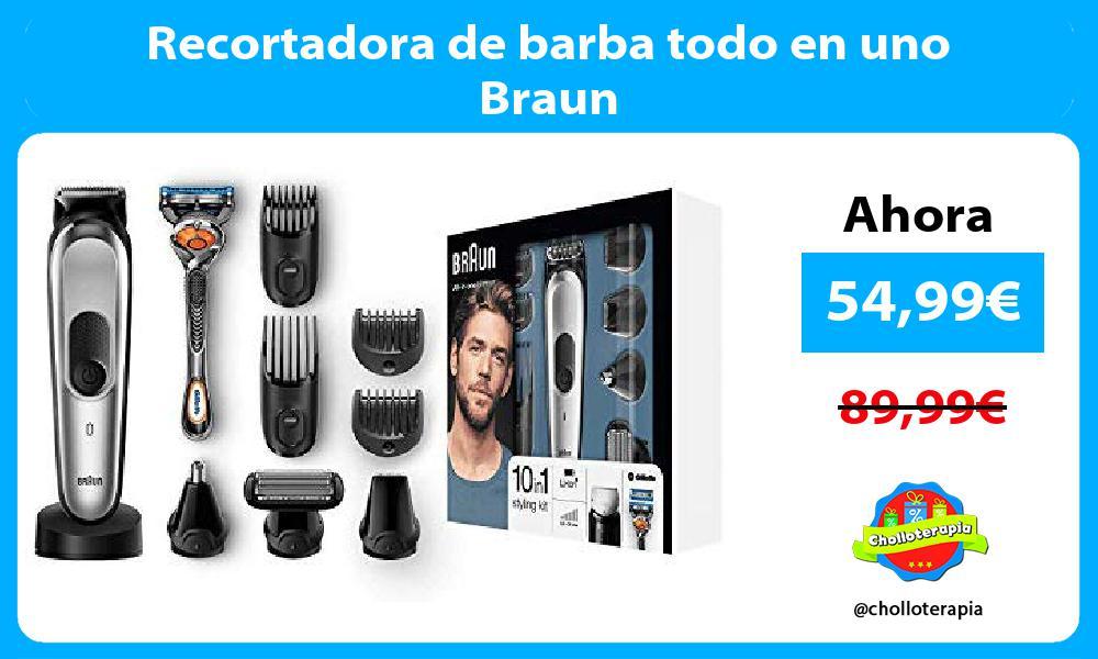 Recortadora de barba todo en uno Braun