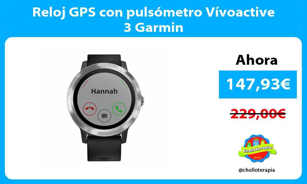 Reloj GPS con pulsómetro Vívoactive 3 Garmin
