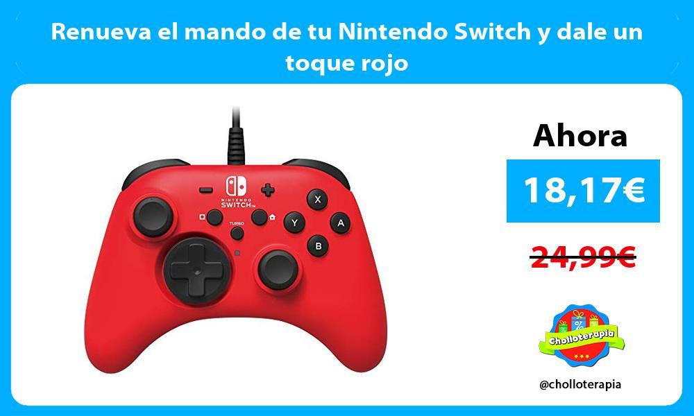 Renueva el mando de tu Nintendo Switch y dale un toque rojo