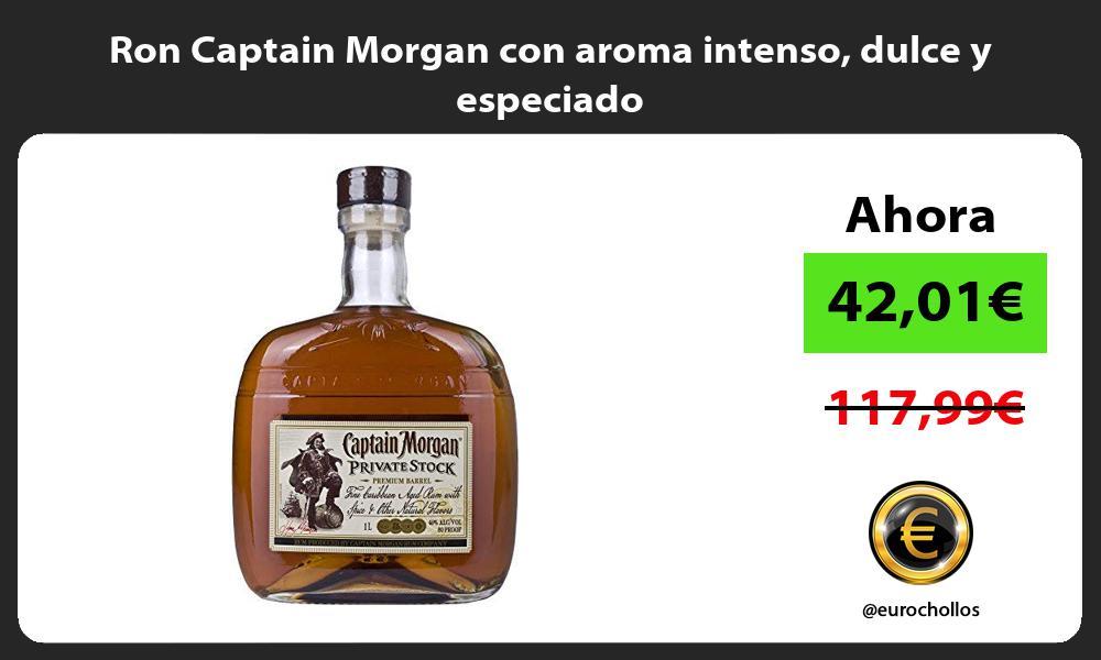 Ron Captain Morgan con aroma intenso dulce y especiado
