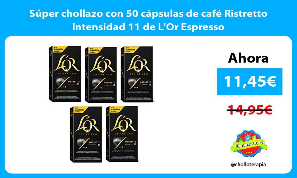 Súper chollazo con 50 cápsulas de café Ristretto Intensidad 11 de LOr Espresso