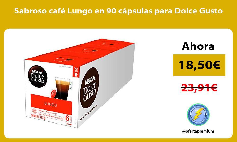 Sabroso café Lungo en 90 cápsulas para Dolce Gusto
