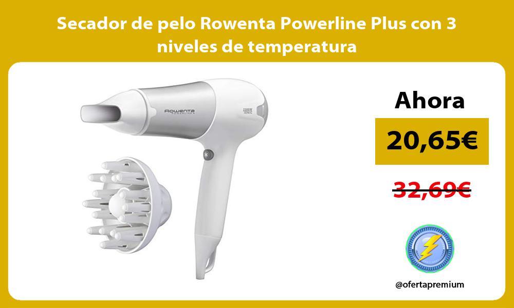 Secador de pelo Rowenta Powerline Plus con 3 niveles de temperatura