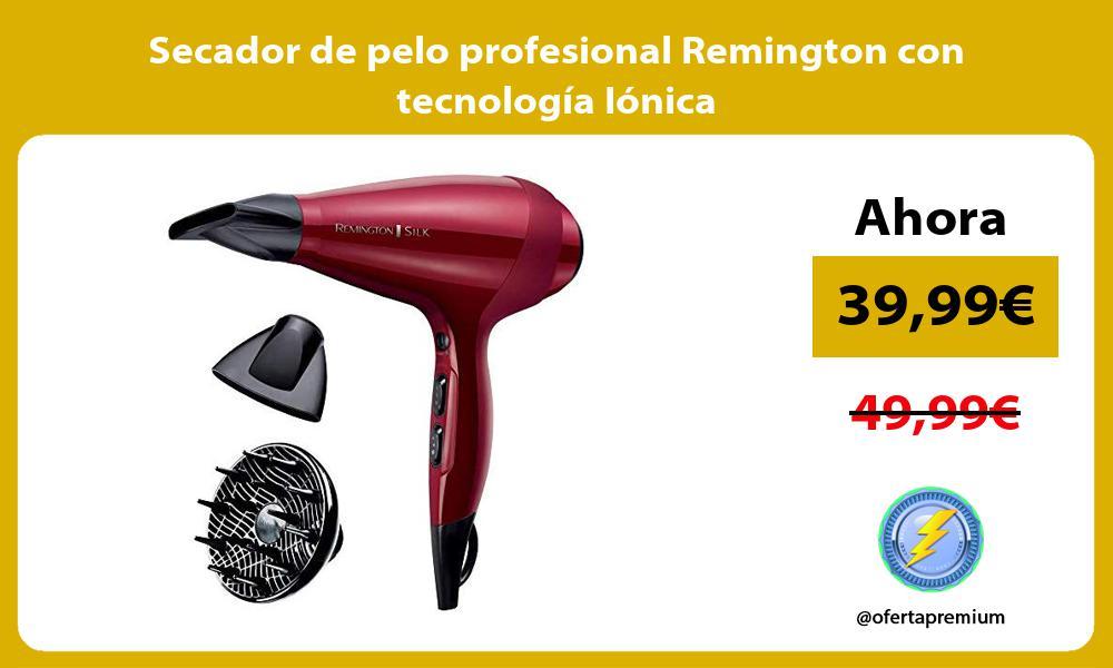 Secador de pelo profesional Remington con tecnología Iónica