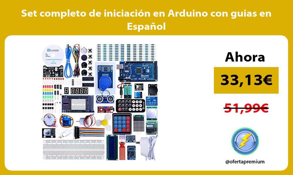 Set completo de iniciación en Arduino con guias en Español