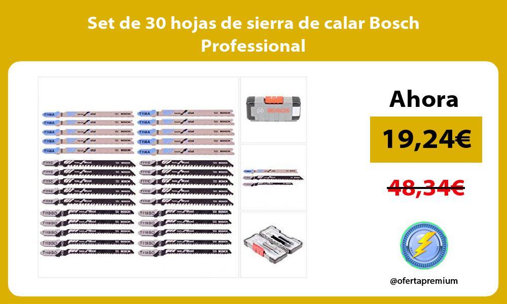 Set de 30 hojas de sierra de calar Bosch Professional