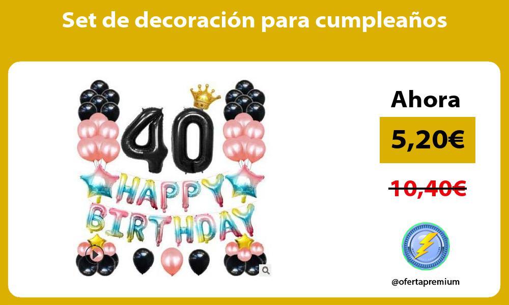 Set de decoración para cumpleaños