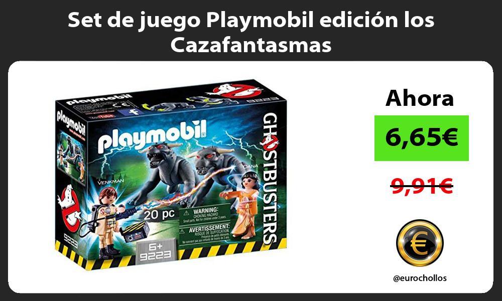 Set de juego Playmobil edición los Cazafantasmas