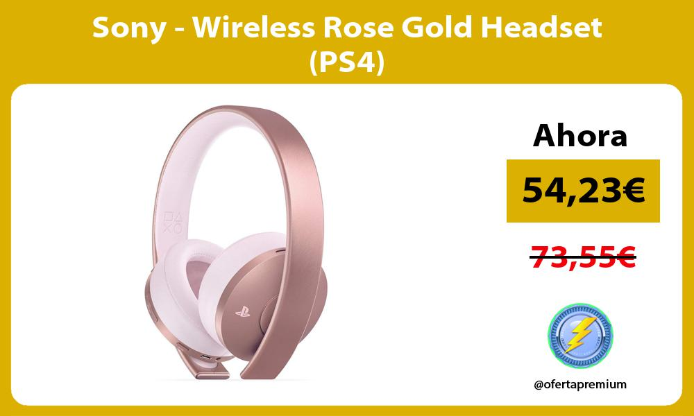 Sony Wireless Rose Gold Headset PS4