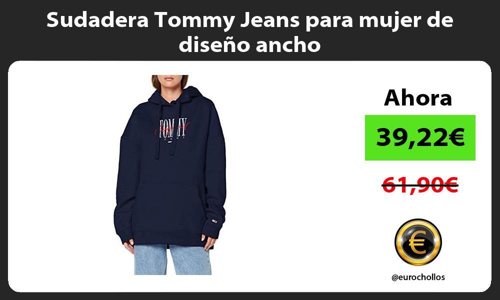 Sudadera Tommy Jeans para mujer de diseño ancho