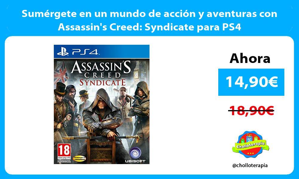 Sumérgete en un mundo de acción y aventuras con Assassins Creed Syndicate para PS4