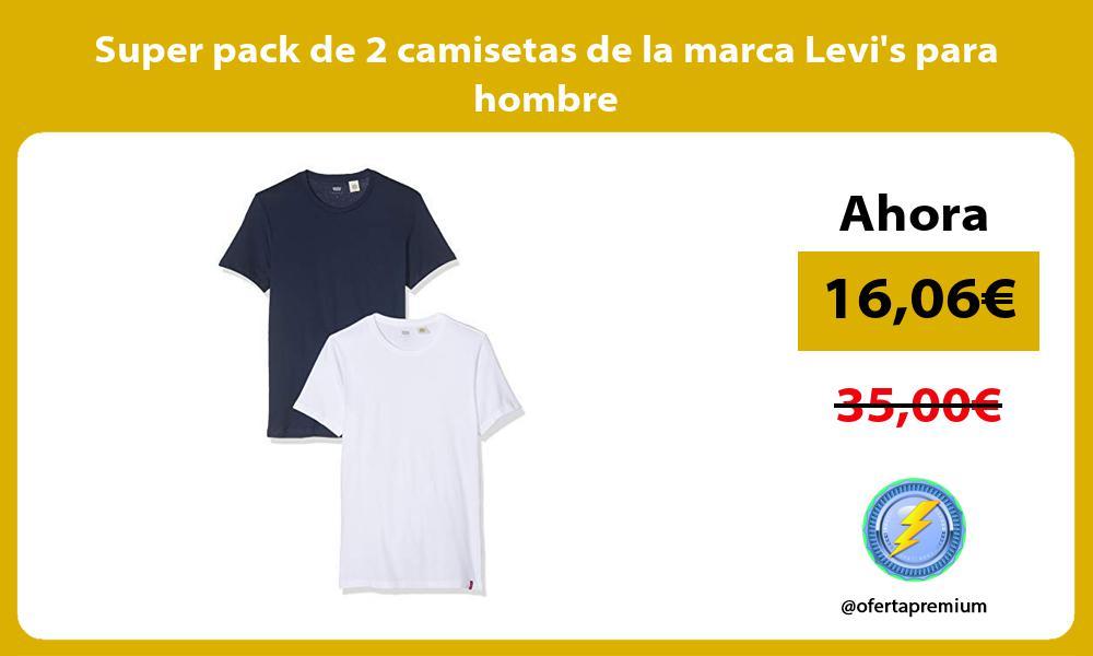Super pack de 2 camisetas de la marca Levis para hombre