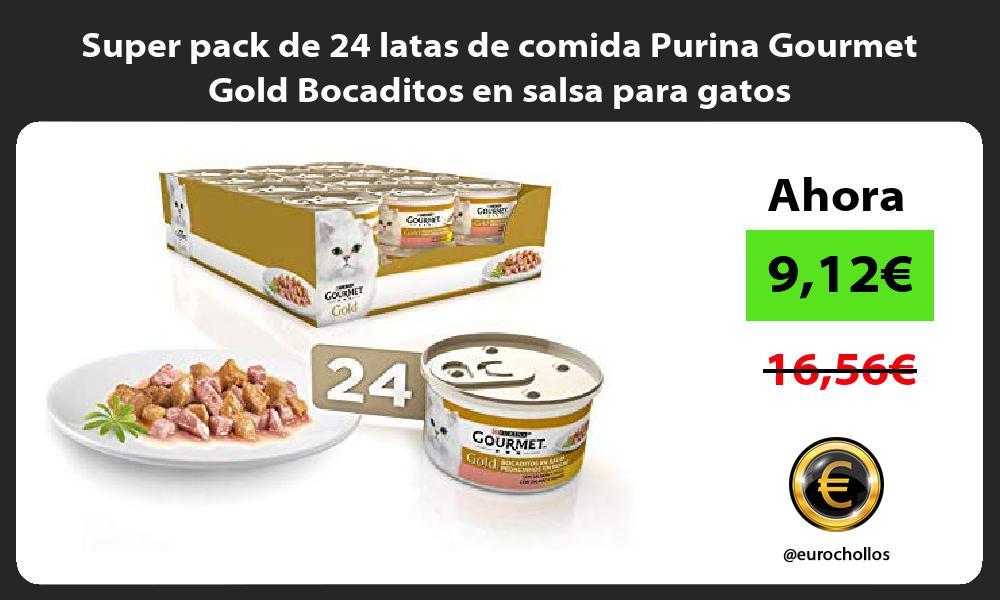 Super pack de 24 latas de comida Purina Gourmet Gold Bocaditos en salsa para gatos