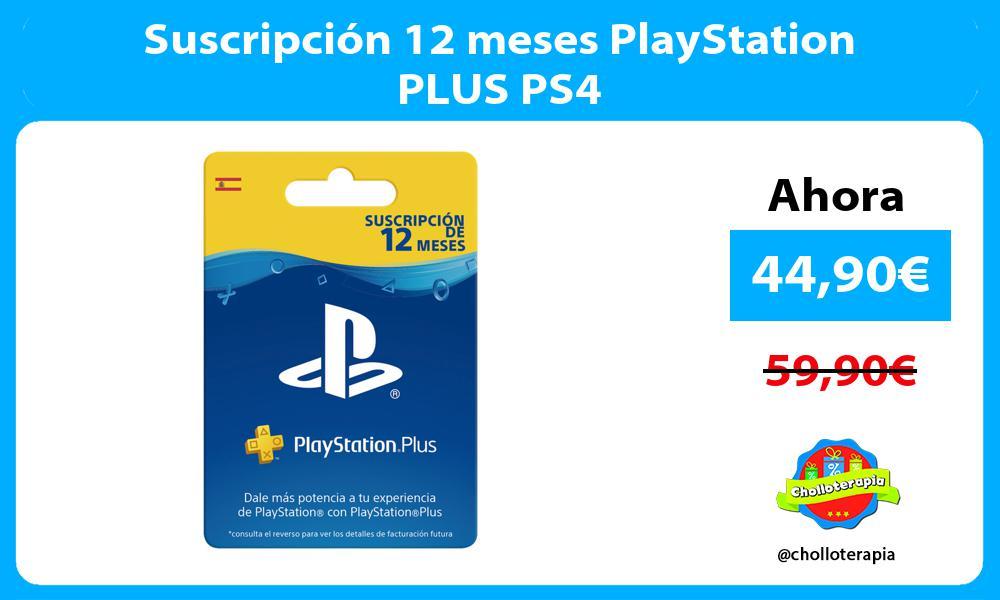 Suscripción 12 meses PlayStation PLUS PS4