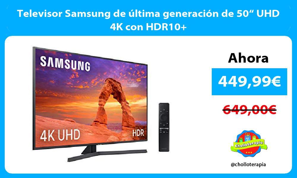 """Televisor Samsung de última generación de 50"""" UHD 4K con HDR10"""