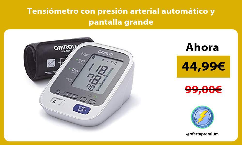 Tensiómetro con presión arterial automático y pantalla grande