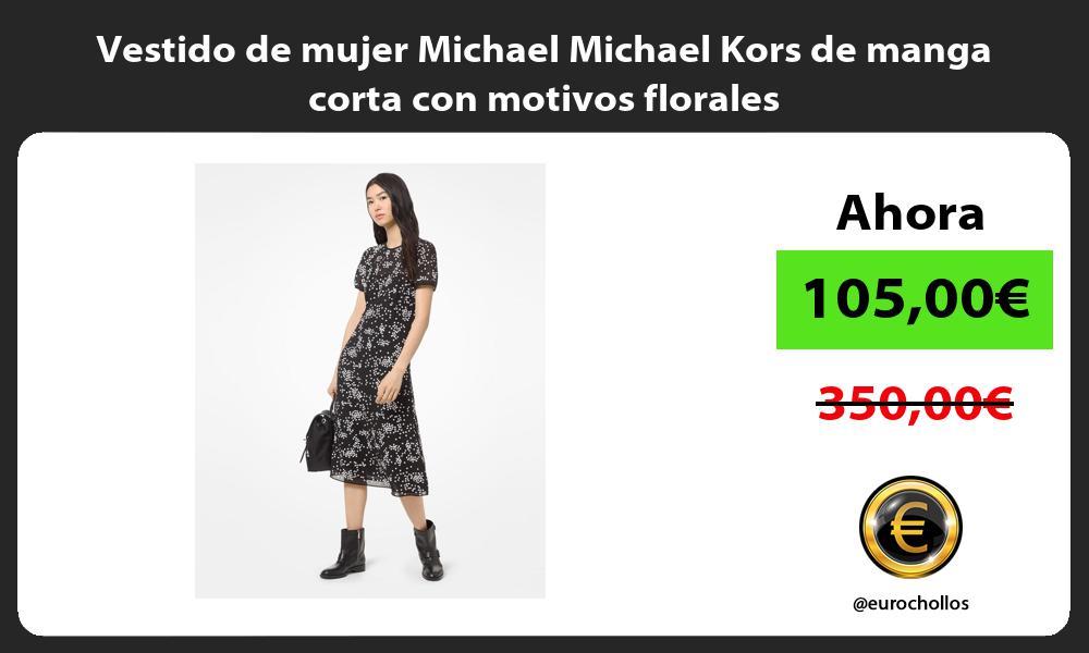 Vestido de mujer Michael Michael Kors de manga corta con motivos florales