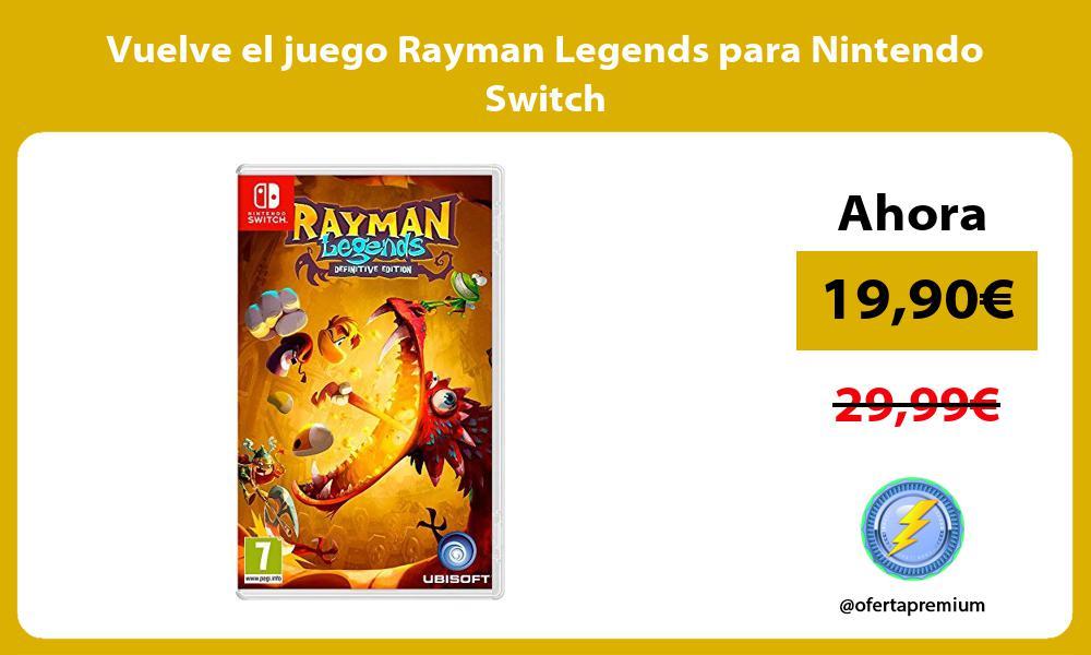 Vuelve el juego Rayman Legends para Nintendo Switch