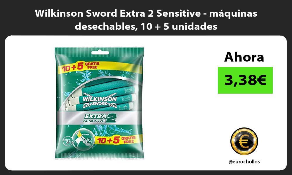 Wilkinson Sword Extra 2 Sensitive máquinas desechables 10 5 unidades