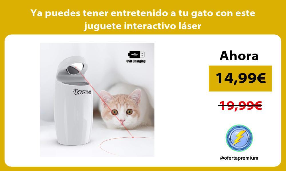 Ya puedes tener entretenido a tu gato con este juguete interactivo láser